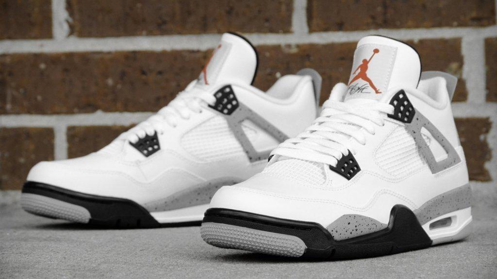 60e1636d7868 Мужские баскетбольные кроссовки Nike Air Jordan IV Retro White Black -  Интернет-магазин «