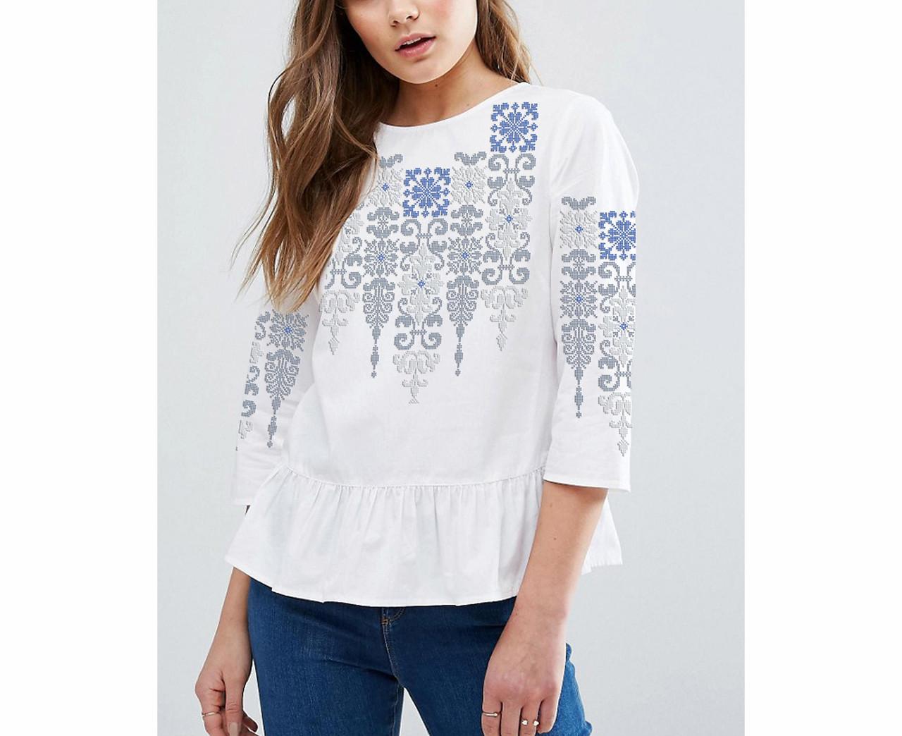 Заготовка вишиванки жіночої сорочки та блузи для вишивки бісером Бисерок «Флірт св» (Б-165 )