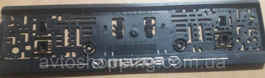 Рамка под номер с металлической надписью Mazda,  Рамка Черная