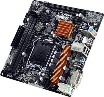 Материнская плата ASRock B150M-HDS Intel B150, s1151, mATX
