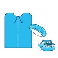 Комплект нестерильной одежды для посетителя  №2