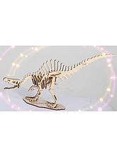 Дерев'яний 3D пазл Спинозавр