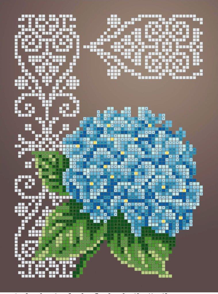 Схема для вишивки та вишивання бісером Бисерок «Гортензія» (A5) 15x18 (ЧВ-2336 (10))