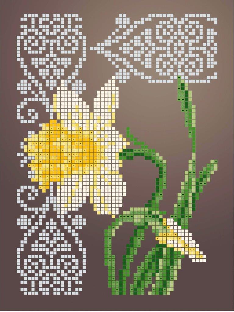Схема для вишивки та вишивання бісером Бисерок «Нарцис» (A5) 15x18 (ЧВ-2338 (10))