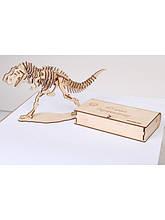 Дерев'яний 3D пазл Тираннозавр