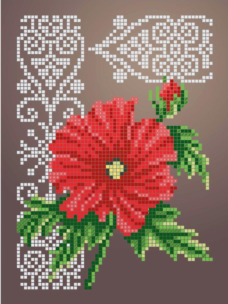 Схема для вишивки та вишивання бісером Бисерок «Гібіскус» (A5) 15x18 (ЧВ-2339 (10))