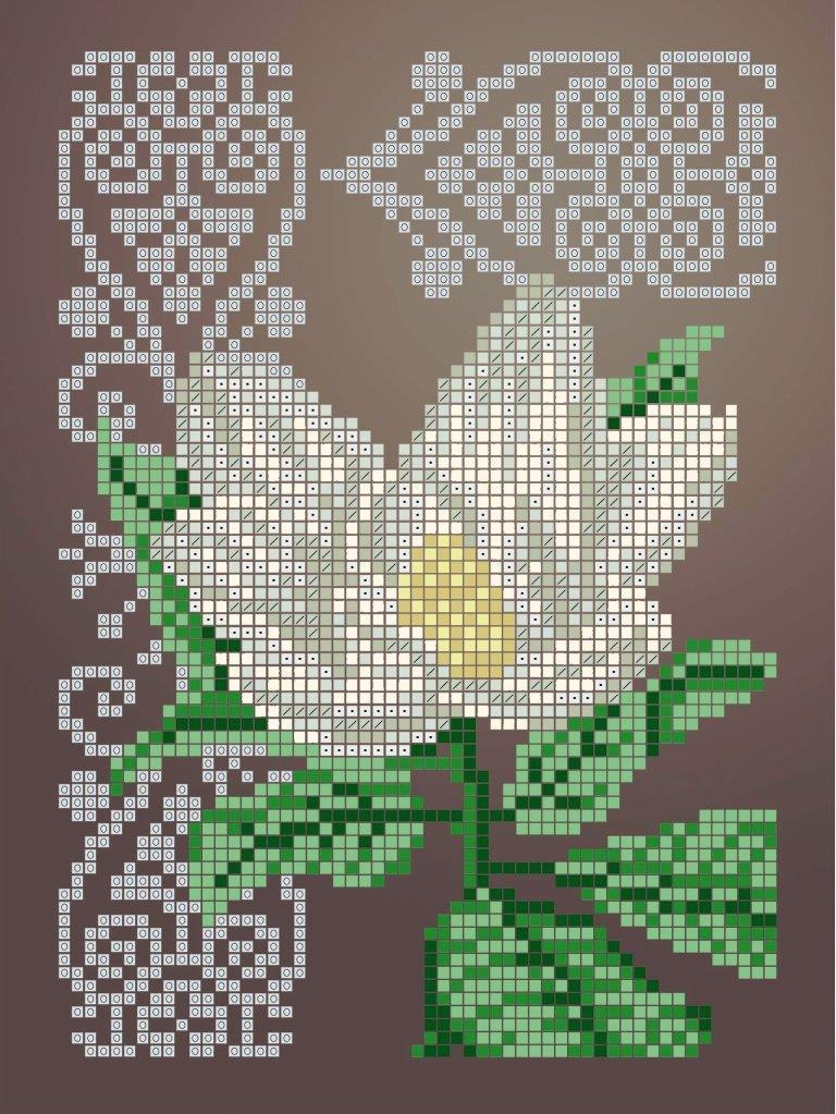 Схема для вишивки та вишивання бісером Бисерок «Магнолія» (A5) 15x18 (ЧВ-2340(10))