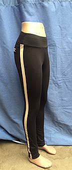 Лосины женские, эластик+кожзам,  размеры S M L XL, №538