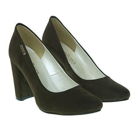 Туфли женские ZanZara (оригинальный цвет хаки, на высоком каблуке, модные)