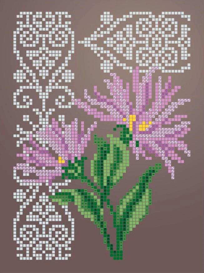 Схема для вишивки та вишивання бісером Бисерок «Айстра 2347» (A5) 15x18 (ЧВ-2347 (10))
