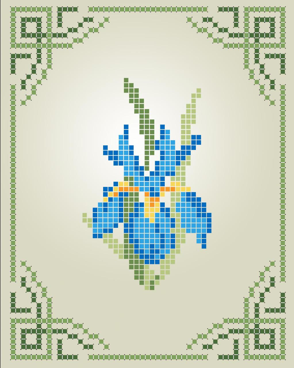 Схема для вишивки та вишивання бісером Бисерок «Ірис» (A6) (ЧВ-1110)