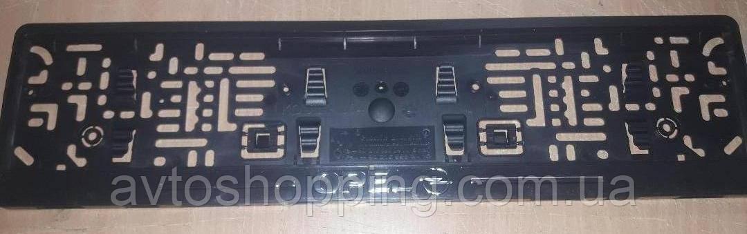 Рамка под номер с металлической надписью Opel (Опель), Рамка Черная