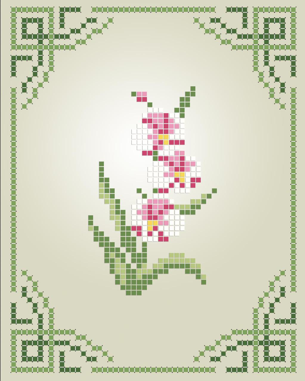 Схема для вишивки та вишивання бісером Бисерок «Орхідея» (A6) 10x15 (ЧВ-1109)
