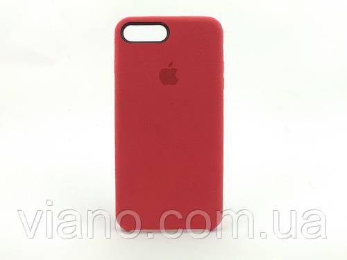 Замшевый чехол iPhone 7 Plus/8 Plus (Красный) Alcantara case