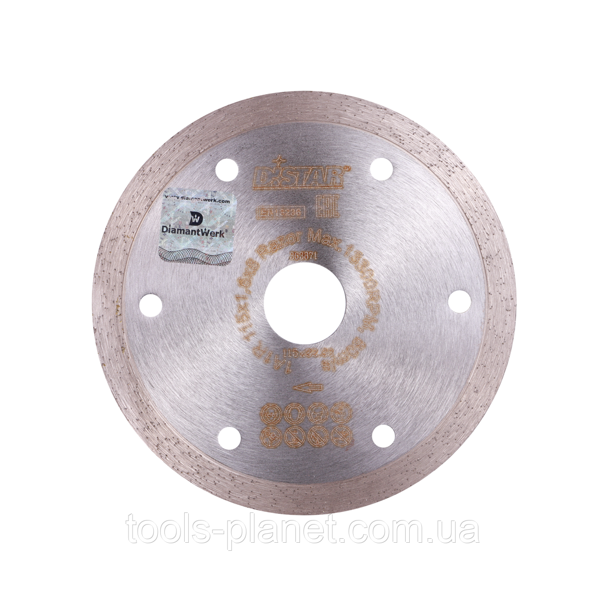 Алмазный диск Distar 1A1R 115 x 1,6 x 10 x 22,23 Razor 5D (11115062009)