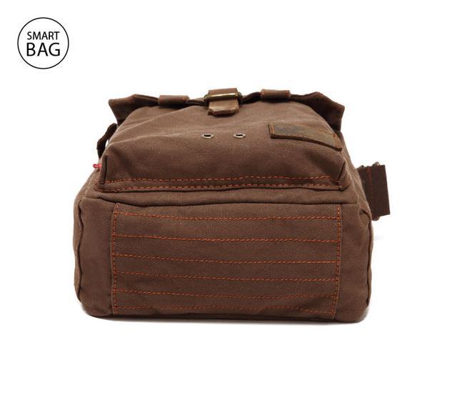 Мужская брезентовая сумка через плечо Augur | коричневая