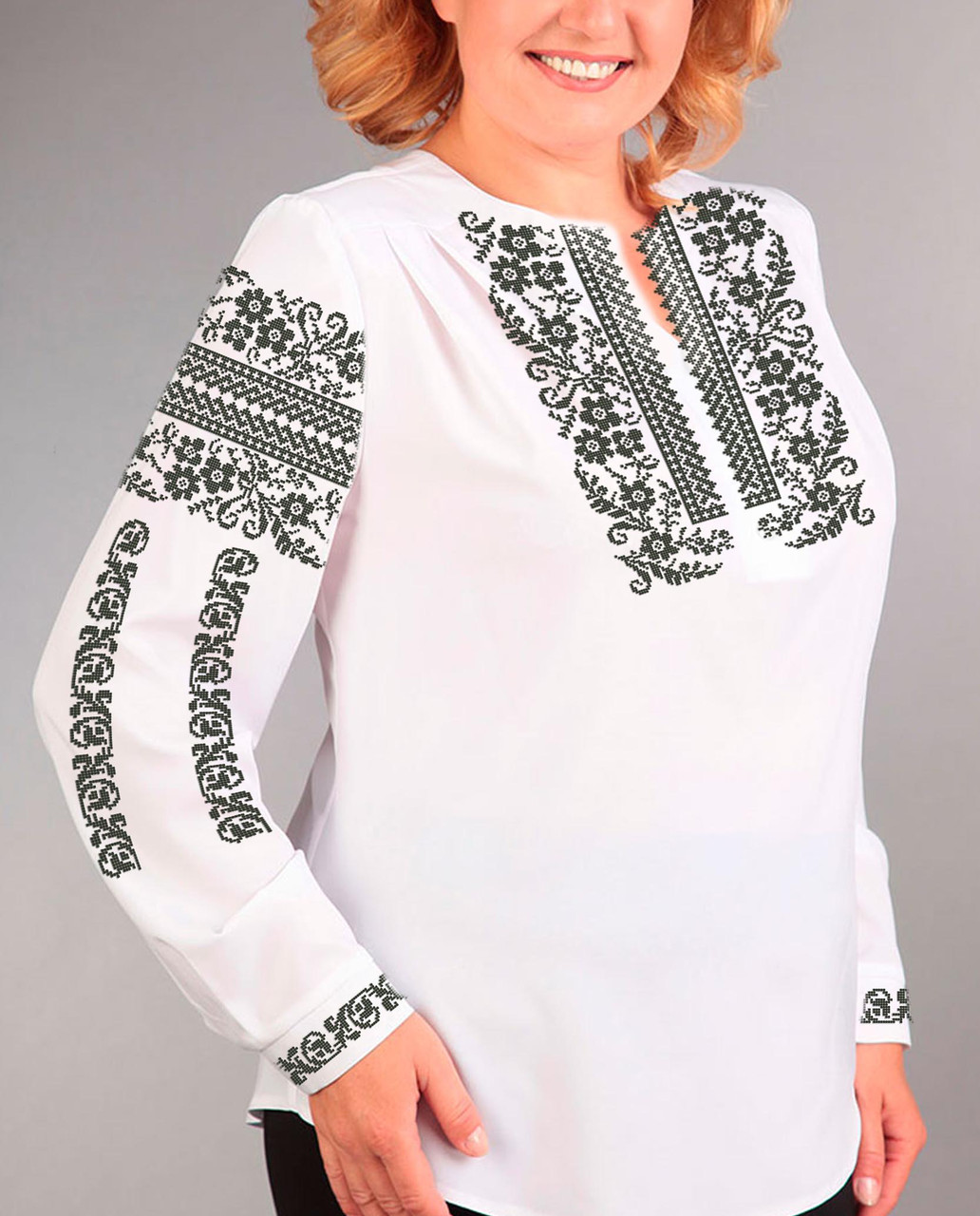 Заготовка вишиванки жіночої сорочки та блузи для вишивки бісером Бисерок  «Сокальська-2» (Б-131 ) 87de7347b09ed