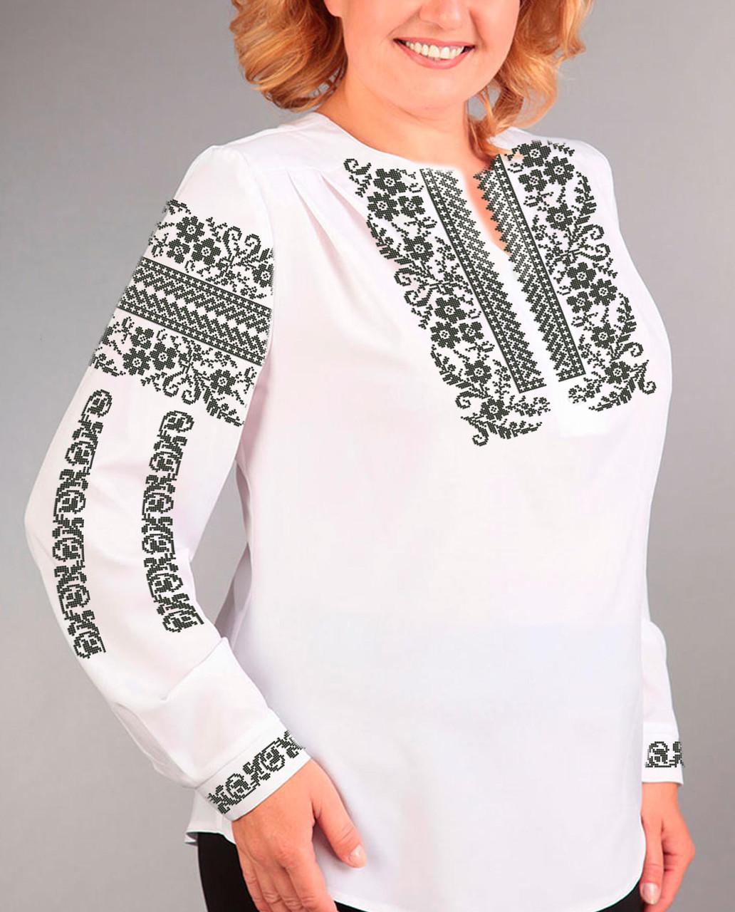 23684e25b77b56 Заготовка вишиванки жіночої сорочки та блузи для вишивки бісером Бисерок  «Сокальська-2» (Б-131 )