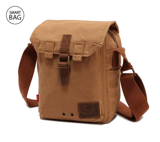 Мужская брезентовая сумка через плечо Augur | бежевая