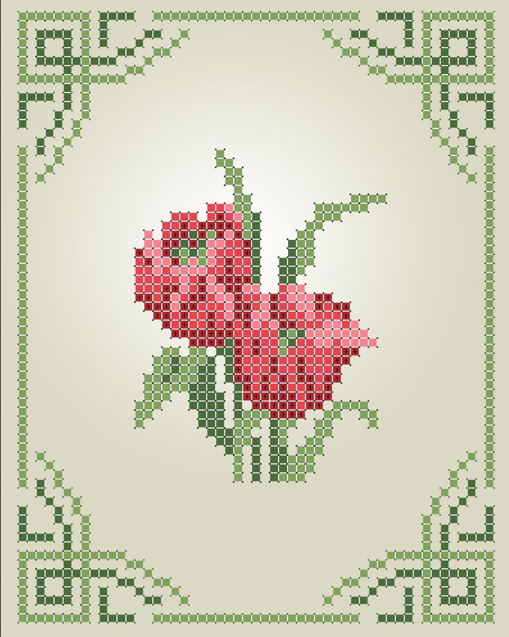 Схема для вишивки та вишивання бісером Бисерок «Тюльпани» (A6) 10x15 (ЧВ-1102)