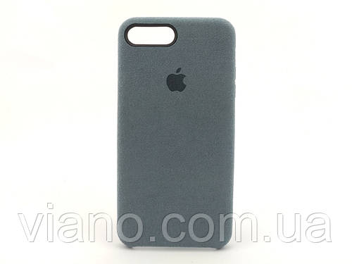 Замшевый чехол iPhone 7 Plus/8 Plus (Серый) Alcantara case