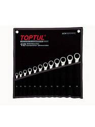 Набор ключей комбинированных с трещоткой 8-19мм в сумке 12ед. TOPTUL GPAQ1202