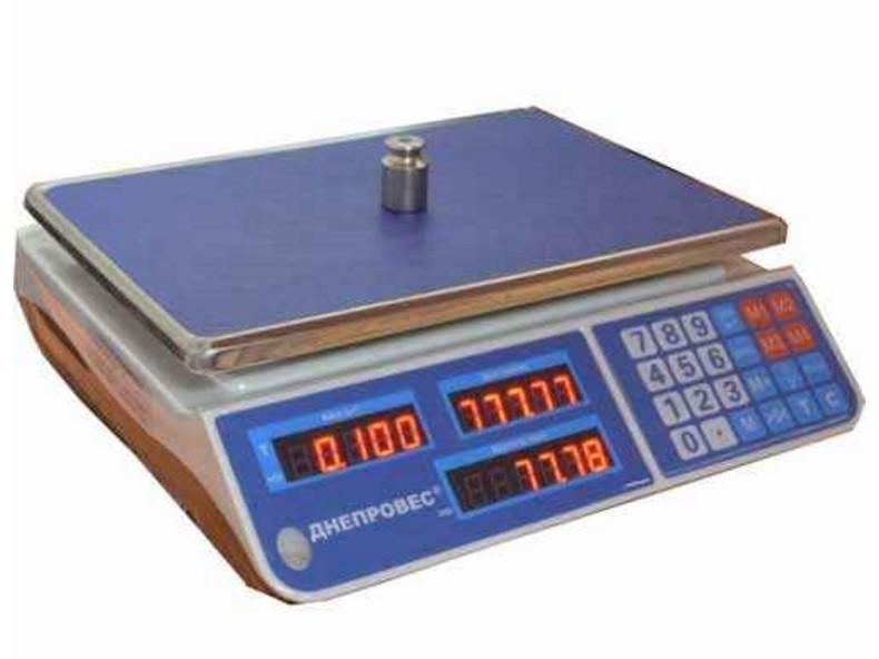 Весы торговые ВТД-6 ЕЛ1 (F902H-EL1) Днепровес