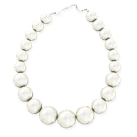 Крупный белый жемчуг - Ожерелье 46 см