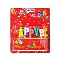 Свічки для торта літери «Happy Birthday» 215789