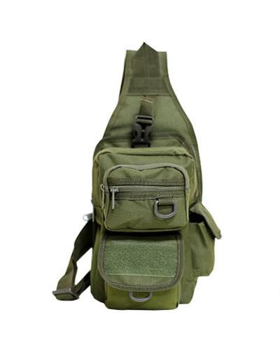 Тактический рюкзак однолямочный с отделением под пистолет Олива