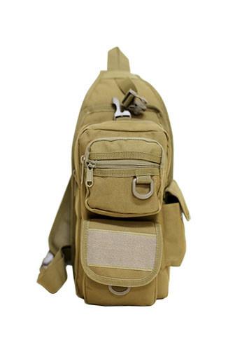 Тактический рюкзак однолямочный с отделением под пистолет Койот