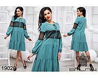 Романтичное платье с воланами размеры S-L, фото 1
