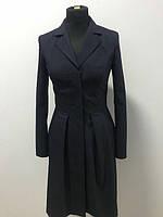 Платье с карманами темно-синее
