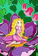 Картина раскраска с контурами на холсте Роса 20*30см Сказочные герои №2 Дюймовочка GPA283137