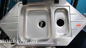 Мойка кухонная угловая Alveus Line 40 из нержавеющей стали в столешницу