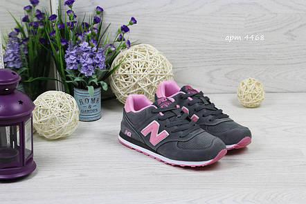 6421d7f54207 Женские кроссовки New Balance 1400,замшевые,серые с розовым 36,37р, фото