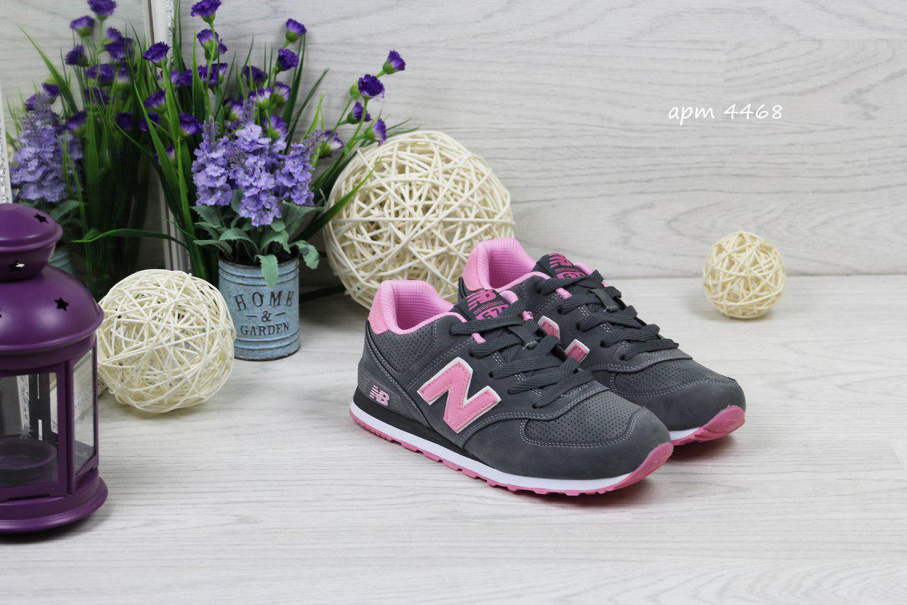 7477f099f1b3 Женские кроссовки New Balance 1400,замшевые,серые с розовым 36,37р -  Интернет