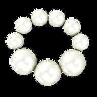 Браслет из крупного белого жемчуга - 16 см