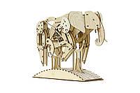 """Механический конструктор из дерева 3D """"Слон"""" Mr.Playwood"""