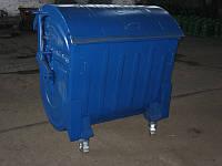 4х-колесный контейнер 1100л металлический крашенный(эмаль)