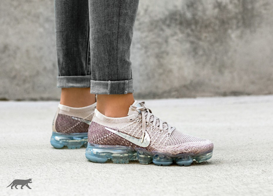 "Кроссовки Nike Air Vapormax Flyknit ""String / Chrome - Sunset Glow"""