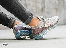"Кроссовки Nike Air Vapormax Flyknit ""String / Chrome - Sunset Glow"", фото 2"