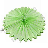 Веерный круг (тишью) 30см (салатовый 0013), фото 1