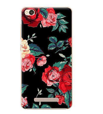 Бампер оригінальний чохол tpu для Xiaomi Redmi 5A з картинкою Троянди на чорному тлі