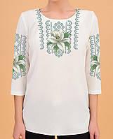 Заготовка вишиванки жіночої сорочки та блузи для вишивки бісером Бисерок  «Біла лілія 108» ( 493ecb38cba92