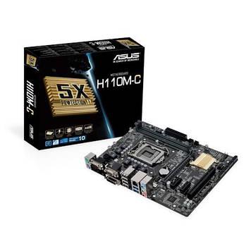 Материнская плата ASUS H110M-R/C/SI Intel H110, s1151, mATX