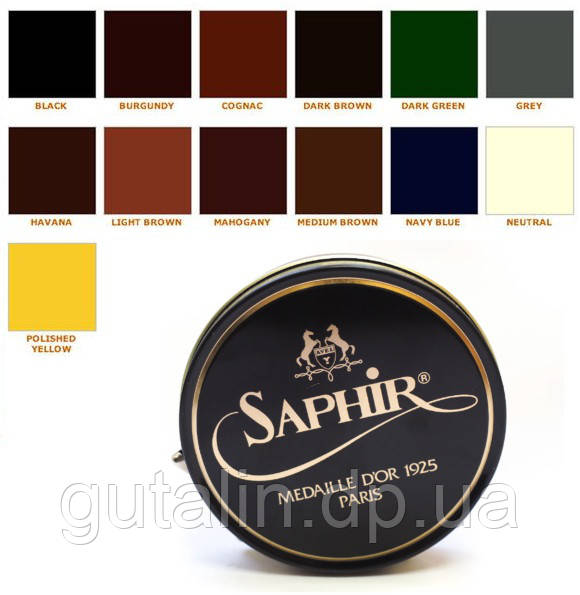 Паста для обуви Saphir Medaille D'or Pate De Luxe цвет средний коричневый (37) 50 мл
