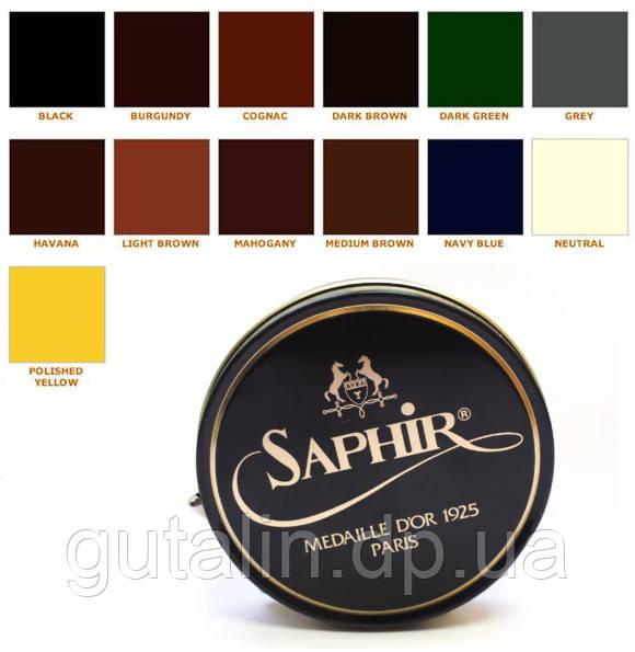 Паста для обуви Saphir Medaille D'or Pate De Luxe цвет тёмно-синий (06) 100 мл