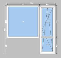 Балконный блок  Rehau-двухкамерный пакет,балконный блок ,пластиковая балконная дверь Rehau,выход на балкон