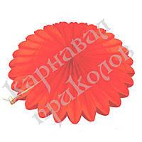 Веерный круг (тишью) 40см (красный 0007)